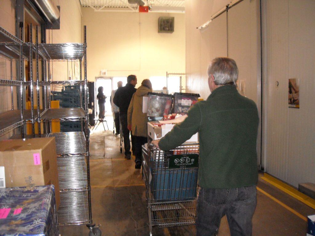 VV staff helping food bank
