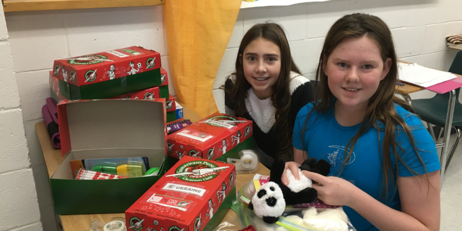 BCHS students fill boxes for Operation Christmas Child