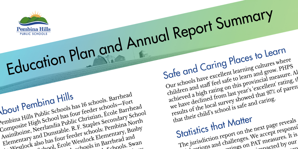 Snipping of PHPS annual education results report summary 2018