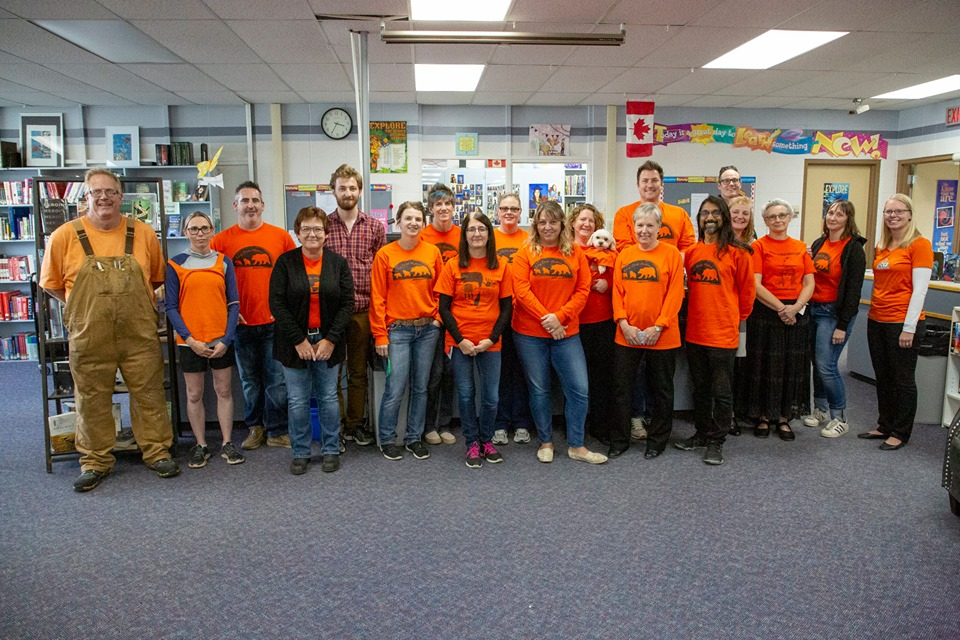 Barrhead comp staff on orange shirt day